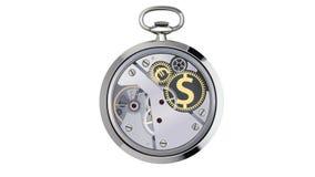 秒表与硬币标志一起使用 向量例证