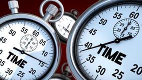 秒表和时间 库存照片