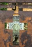 秘密喷泉在罗得岛老镇  免版税库存图片