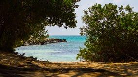 秘密海滩在阿鲁巴 图库摄影
