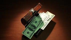 秘密费 货币 100钞票美元 影视素材