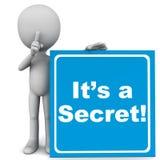 秘密 免版税库存图片
