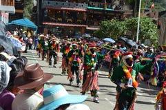 秘鲁人舞蹈 库存图片