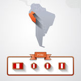 秘鲁信息卡片 皇族释放例证