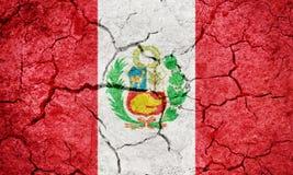 秘鲁共和国旗子 免版税库存图片