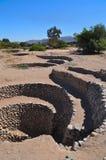 秘鲁古老的aquaducts 库存图片