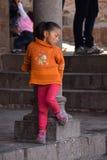 秘鲁女孩 免版税库存照片
