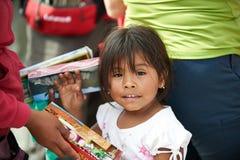 秘鲁女孩 库存照片