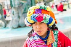 秘鲁女孩 免版税库存图片