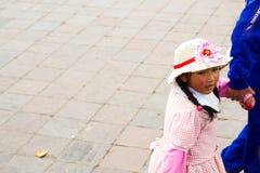 年轻秘鲁女孩 库存图片