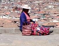 秘鲁妇女 库存照片