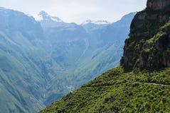 秘鲁山 免版税图库摄影