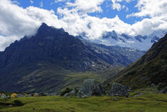 秘鲁山 免版税库存图片