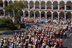 秘鲁民间舞 免版税库存图片