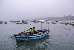 秘鲁渔夫 免版税库存照片