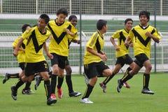 秘鲁球员足球赢利地区 库存照片