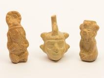 秘鲁瓦器,陶瓷的印加人片断  免版税库存图片