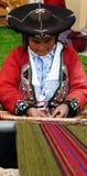 从秘鲁的传统人 免版税图库摄影