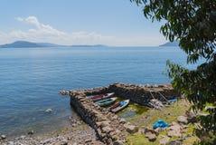 秘鲁的喀喀湖 免版税库存图片