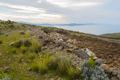 秘鲁的喀喀湖 库存图片