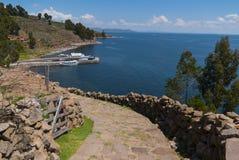 秘鲁的喀喀湖 免版税图库摄影