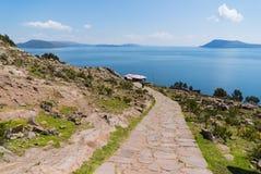 秘鲁的喀喀湖 图库摄影