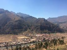 秘鲁的山 图库摄影