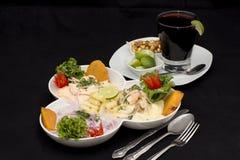 秘鲁盘:Cebiche (ceviche)的3种类型 免版税库存照片