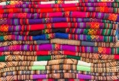 秘鲁纺织品背景 库存照片