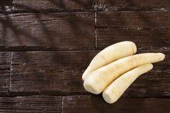 秘鲁胡萝卜- Arracacia xanthorrhiza - arracache,芹菜拉丁美洲各国的人,racacha,virraca,白色红萝卜 库存图片