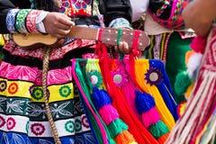 秘鲁舞蹈家  免版税库存照片
