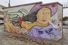 秘鲁街道画 库存照片