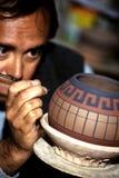 秘鲁陶瓷工 免版税图库摄影