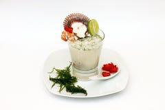 秘鲁食物:leche de tigre 免版税图库摄影