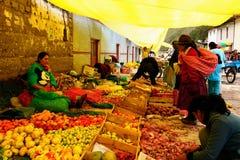 秘鲁,种族拉丁市场 库存照片
