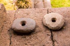 秘鲁 古老阿兹台克人和玛雅人石雕塑 免版税库存照片