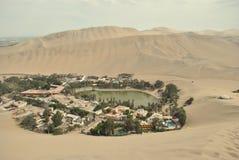 秘鲁绿洲 库存照片