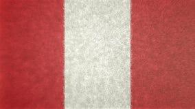秘鲁3D的原始的旗子图象 库存例证