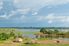 秘鲁Amazonas,印第安结算 图库摄影