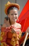 秘鲁Marinera舞蹈家 库存图片