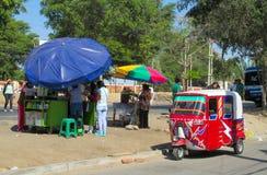 秘鲁tuk tuk出租汽车汽车 免版税图库摄影