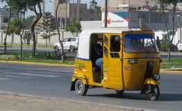 秘鲁tuk tuk出租汽车汽车 免版税库存照片