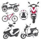 租、销售和修理-自行车,脚踏车和滑行车 骑自行车的俱乐部 详细的元素 老减速火箭的葡萄酒难看的东西 免版税图库摄影