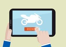 租用一辆摩托车 免版税库存照片