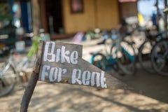 租的自行车 库存照片