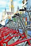 租的自行车 免版税库存照片