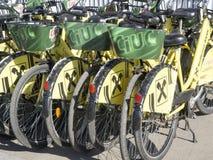 租的自行车 免版税库存图片