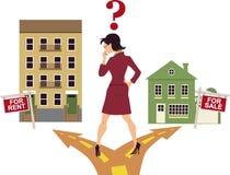 租赁或买 免版税库存照片