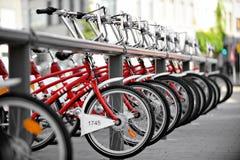 租赁自行车点 免版税库存照片