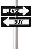 租赁资产或采购 图库摄影